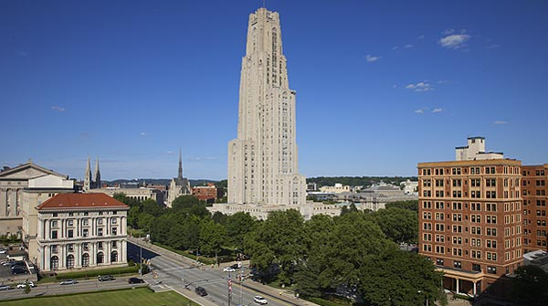 View of Pitt's Campus, including Cathedral of Learning